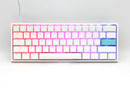 DUCKY ONE 2 MINI WHITE CASE RGB LED PBT DOUBLE SHOT MECHANICAL KEYBOARD (CHERRY MX RGB RED SWITCH) (DKON2061ST-RUSPDWWT1)