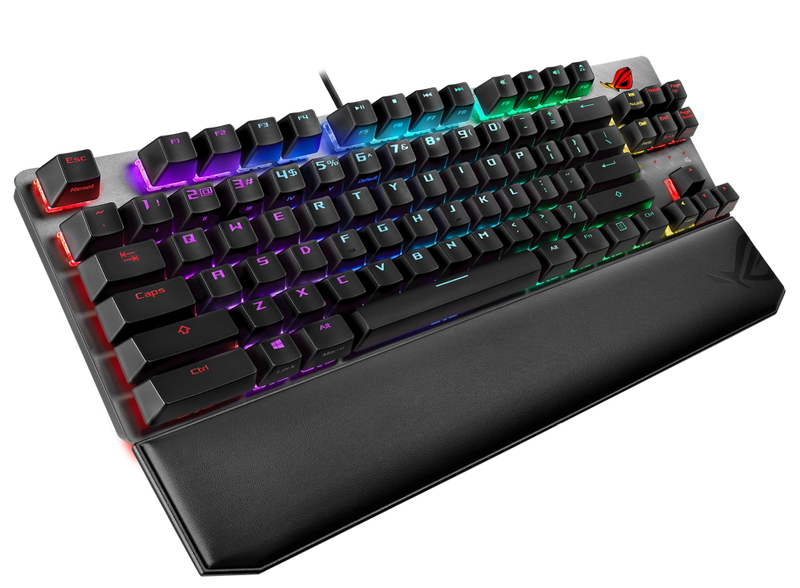 ASUS ROG STRIX X801 RGB SCOPE TKL DELUXE MECHANICAL GAMING KEYBOARD (CHERRY MX RGB RED)