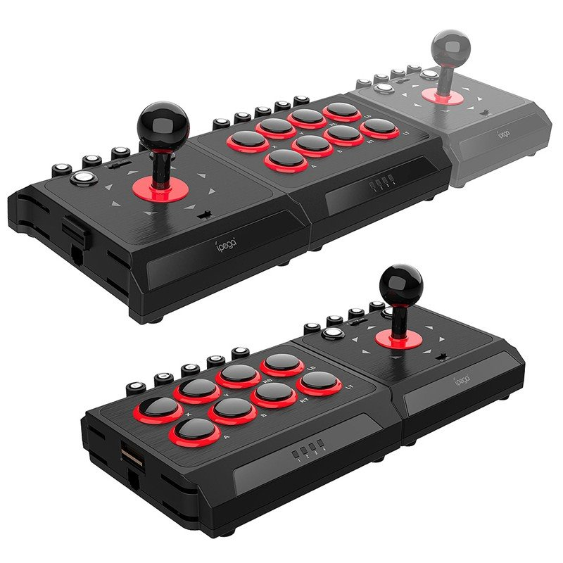 IPEGA INTERCHANGEABLE FIGHTING STICK FOR (P4/N-SWITCH/WIN/PC/ANDROID/P3) (PG-9059)