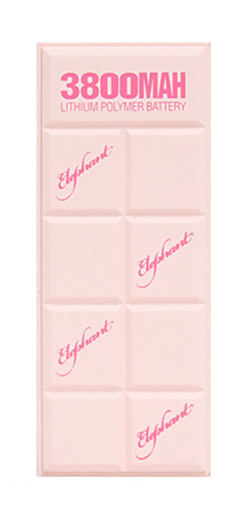ELEPHANT POWER BANK 3800MAH LITHIUM POLYMER BATTERY (PB-004-STRAWBERRY CHOCOLATE)