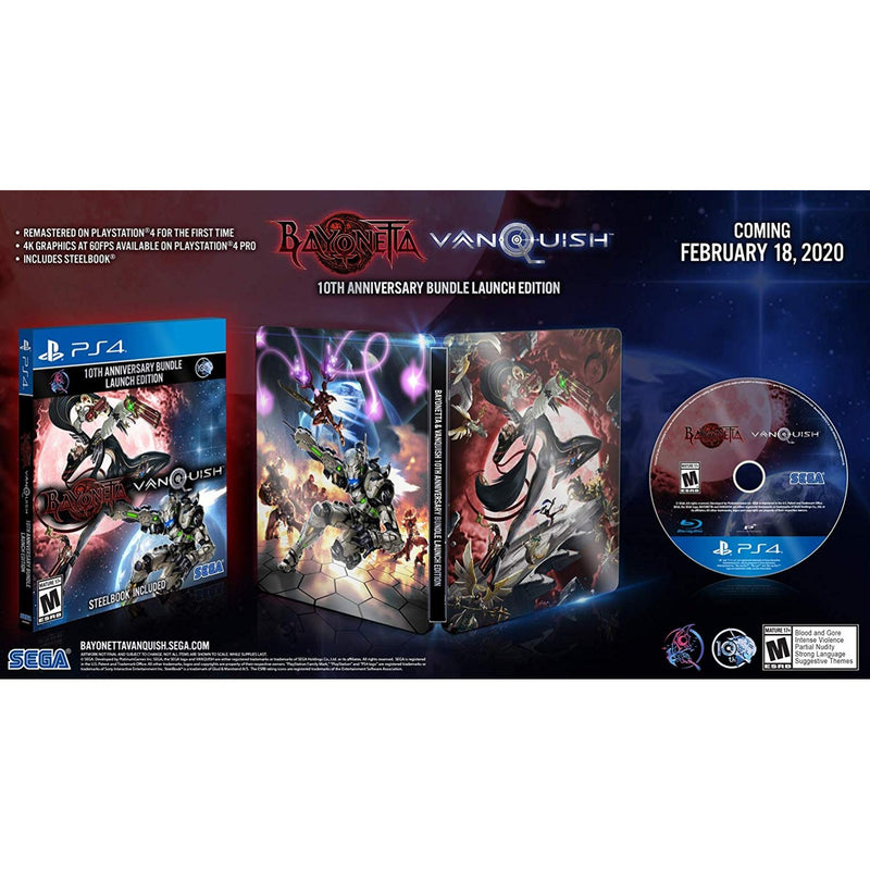 PS4 BAYONETTA & VANQUISH 10TH ANNIVERSARY BUNDLE LAUNCH EDITION WITH STEELBOOK REG.3