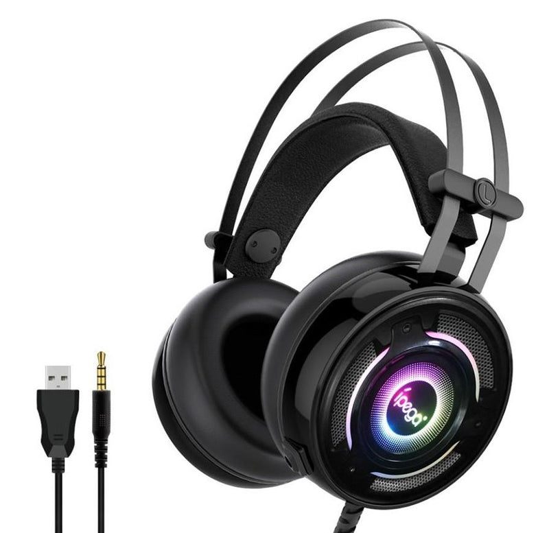 IPEGA GAMING HEADSET FOR P4 SERIES/X-ONE SERIES/N-SWITCH/N-SWITCH LITE/MOBILE/TABLETS/PC (BLACK) (PG-R008)