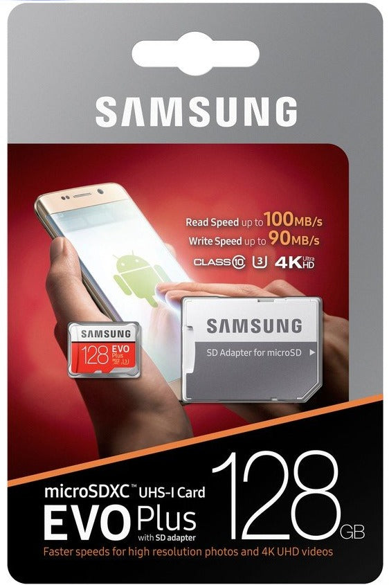 SAMSUNG EVO PLUS MICROSDXC UHS-I CARD 128GB W/ ADAPTER