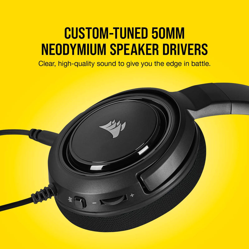 CORSAIR HS45 SURROUND STEREO GAMING HEADSET WITH 7.1 SURROUND SOUND (CARBON)