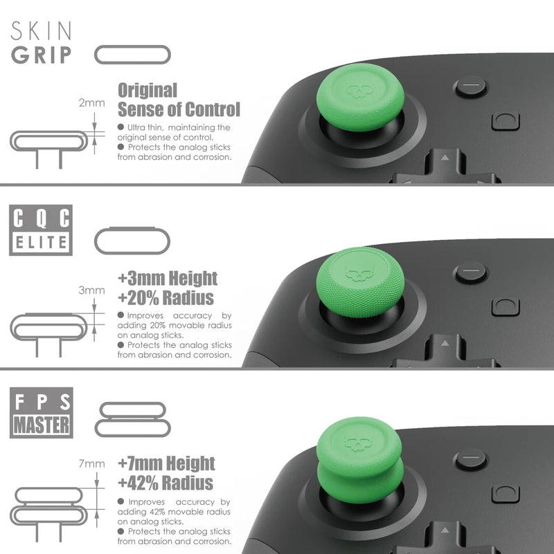 SKULL & CO. NSW THUMB GRIP FOR SWITCH PRO/PS4/PS5 CONTROLLER (ANIMAL CROSSING) (SET OF 6)