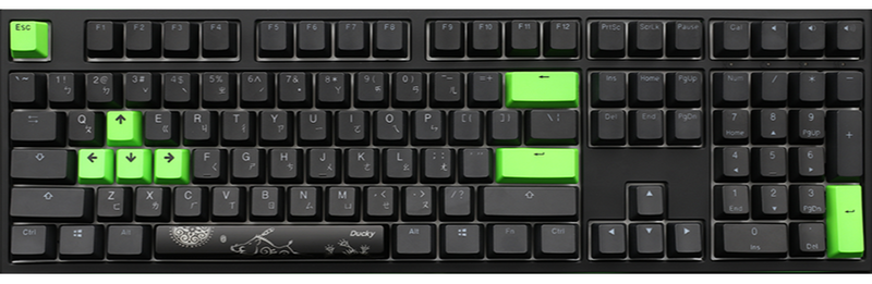 DUCKY ONE 2 RGB RAZER EDITION MECHANICAL KEYBOARD GREEN SWITCH (DKON1808ST-RGUSPDAZT1)