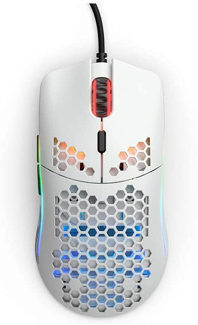 GLORIOUS MODEL O RGB GAMING MOUSE (MATTE WHITE)