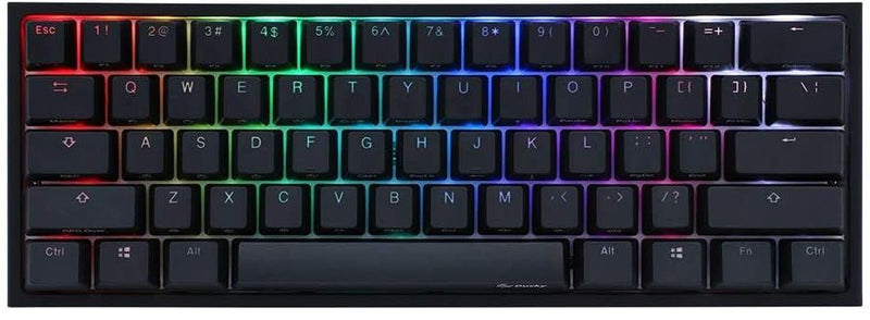 DUCKY ONE 2 MINI RGB LED DOUBLE SHOT PBT MECHANICAL KEYBOARD CHERRY MX SILENT RED (DKON1861ST-SUSPDAZT1)