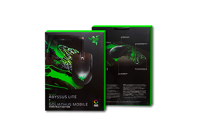 RAZER ABYSSUS LITE & RAZER GOLIATHUS MOBILE CONSTRUCT EDITION MOUSE AND MOUSE MAT BUNDLE
