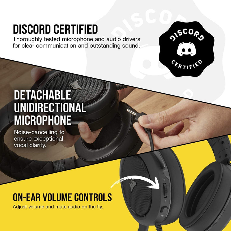 CORSAIR HS50 PRO STEREO GAMING HEADSET (CARBON)
