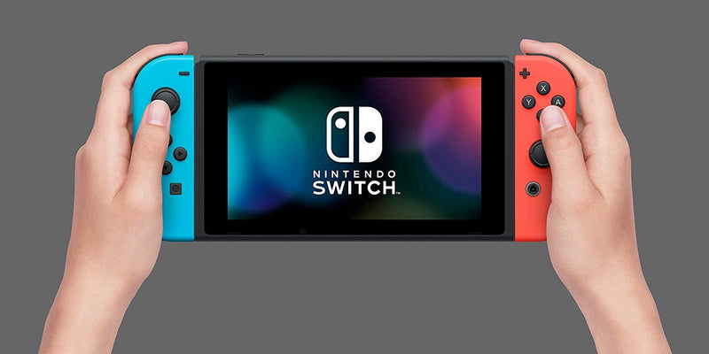 NINTENDO SWITCH CONSOLE WITH RED/BLUE JOYCON (REFRESH)