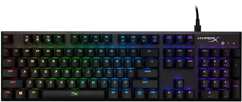 HYPERX ALLOY FPS RGB MECHANICAL GAMING KEYBOARD SPEED SILVER
