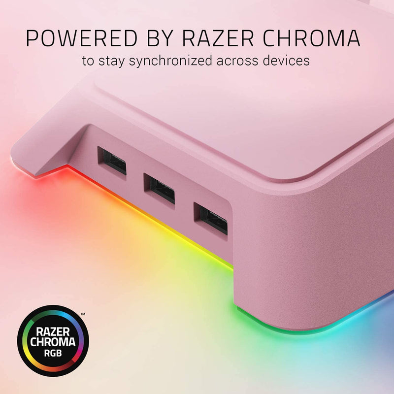RAZER BASE STATION CHROMA HEADSET STAND WITH USB HUB (QUARTZ)