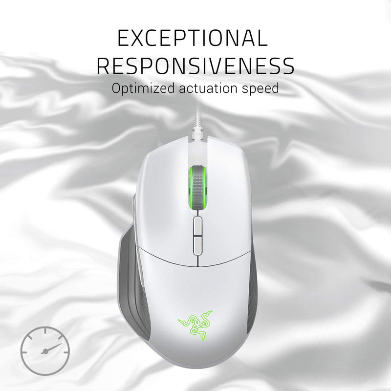 RAZER BASILISK CUSTOMIZABLE GAMING MOUSE (MERCURY)
