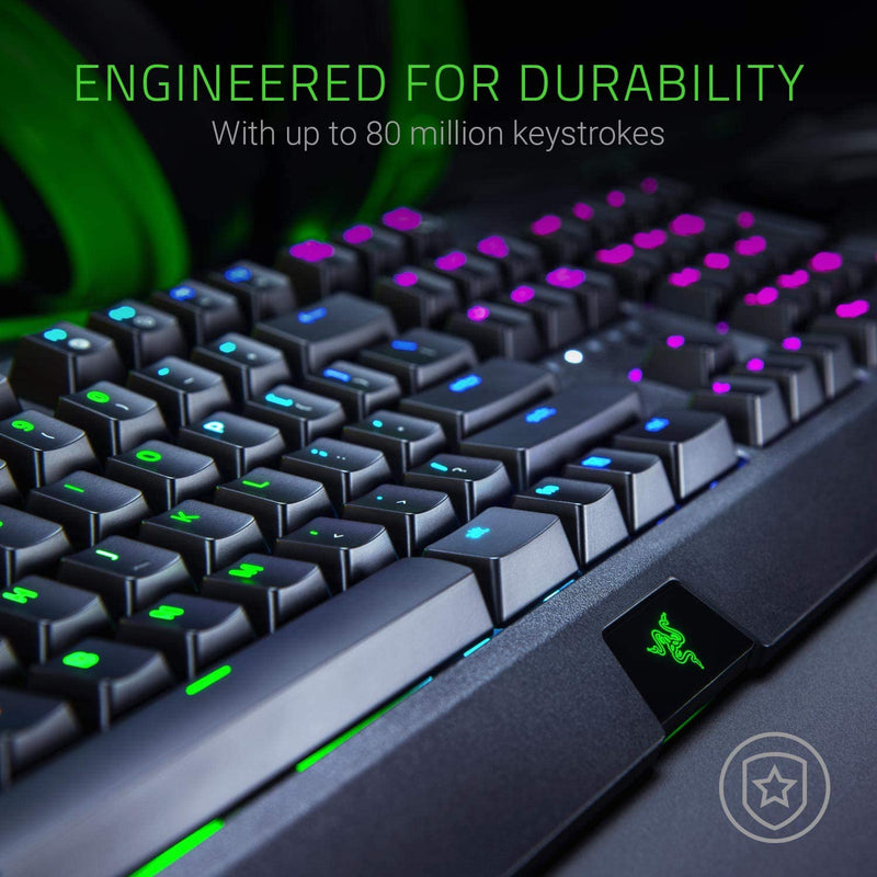 RAZER BLACKWIDOW MECHANICAL GAMING KEYBOARD (GREEN SWITCH)