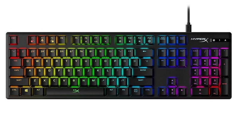 HYPERX ALLOY ORIGINS RGB MECHANICAL GAMING KEYBOARD (RED SWITCH)
