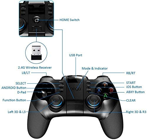 IPEGA 3 IN 1 WIRELESS CONTROLLER (FOR IPHONE/IPAD/ANDROID SMARTPHONE/TABLET) (PG-9156)