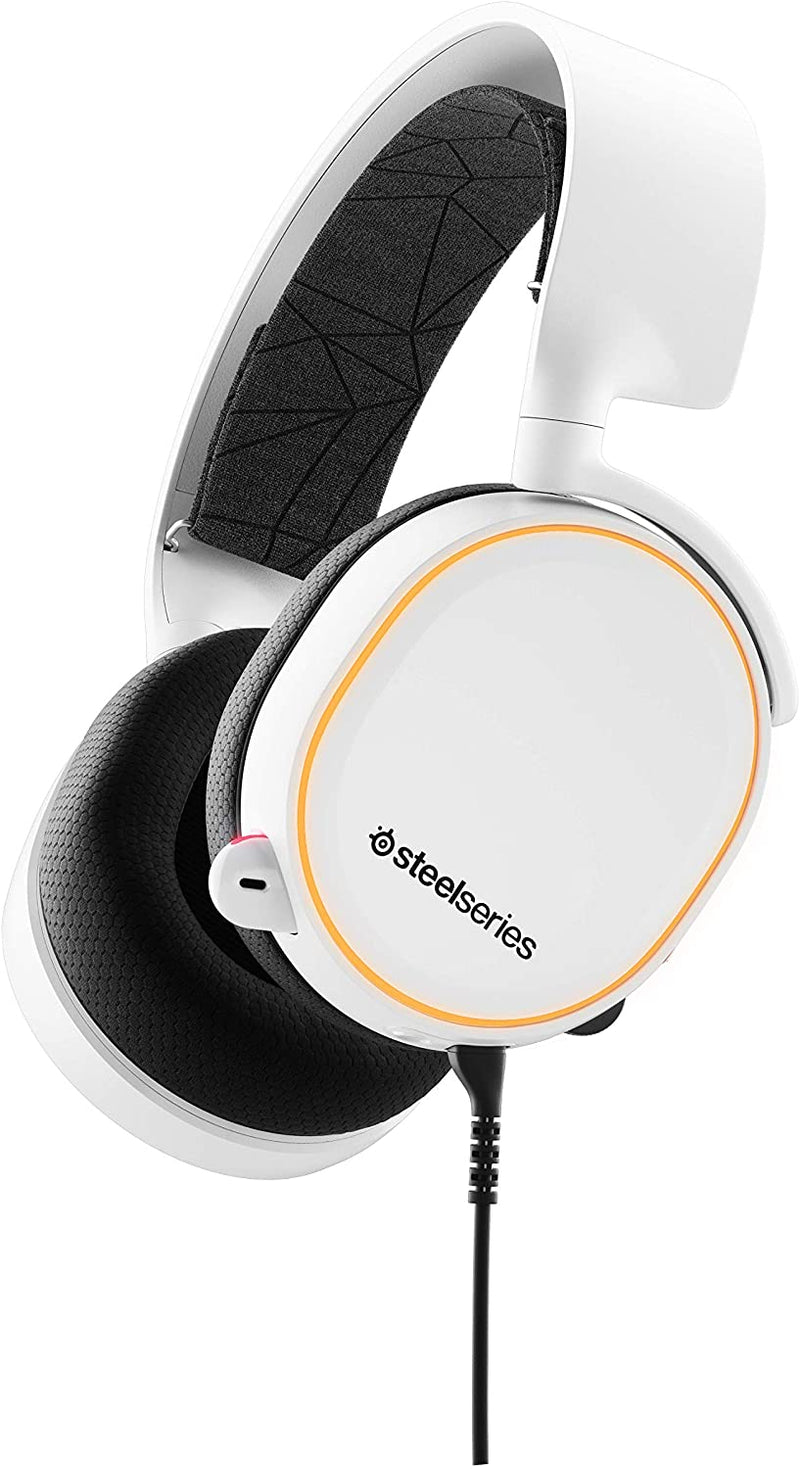 STEELSERIES ARCTIS 5 WHITE 7.1 SURROUND RGB GAMING HEADSET 2019 EDITION (PN61507)