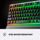 STEELSERIES APEX 3 RGB GAMING KEYBOARD WHISPER QUIET (PC/MAC/XBOXONE/PS4) (US64795)