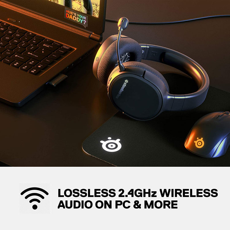 STEELSERIES ARCTIS 1 4-IN-1 WIRELESS GAMING HEADSET (BLACK) (PN61512)