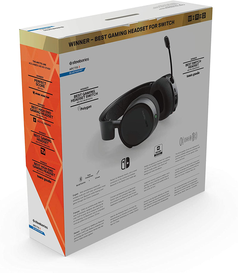 STEELSERIES ARCTIS 3 BLUETOOTH WIRED FOR GAMING BLUETOOTH FOR LIFE 2019 EDITION BLACK (PN61509)
