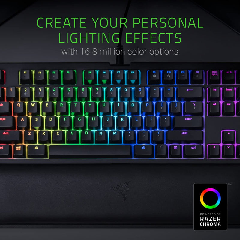 RAZER BLACKWIDOW TOURNAMENT ED. CHROMA V2 MECHANICAL GAMING KEYBOARD (GREEN SWITCH)
