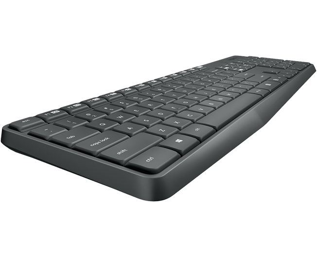 LOGITECH MK235 WIRELESS KEYBOARD AND MOUSE COMBO (GREY)