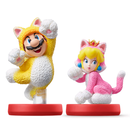 NINTENDO AMIIBO SUPER MARIO SERIES CAT MARIO/CAT PEACH DOUBLE SET