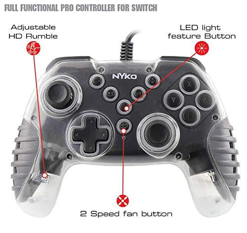 NSW NYKO AIR GLOW LED FAN-COOLED WIRED CONTROLLER W/ FORCE FEEDBACK FUNCTION MULTICOLOR