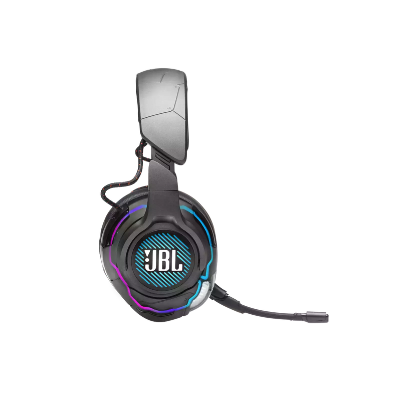 JBL QUANTUM ONE USB WIRED OVER EAR PROFESSIONAL GAMING HEADSET W/ HEAD TRACKING ENHANCED QUANTUMSPHERE 360 (BLACK)