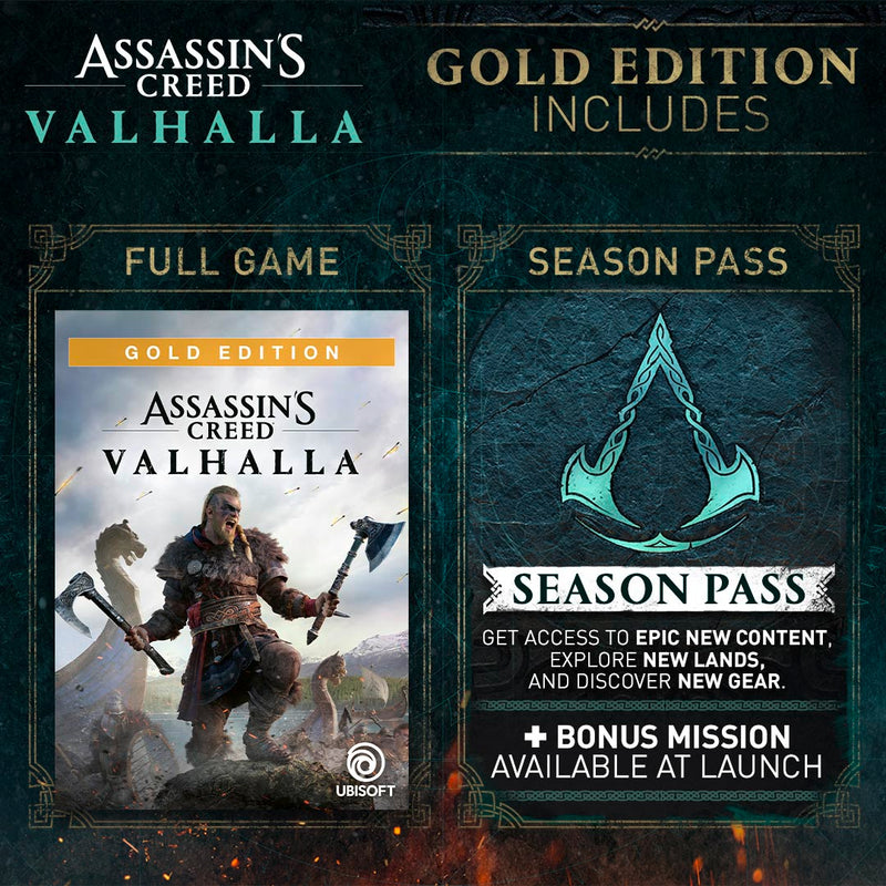 XBOX ONE ASSASSIN'S CREED: VALHALLA [GOLD EDITION]  - PREORDER DOWNPAYMENT