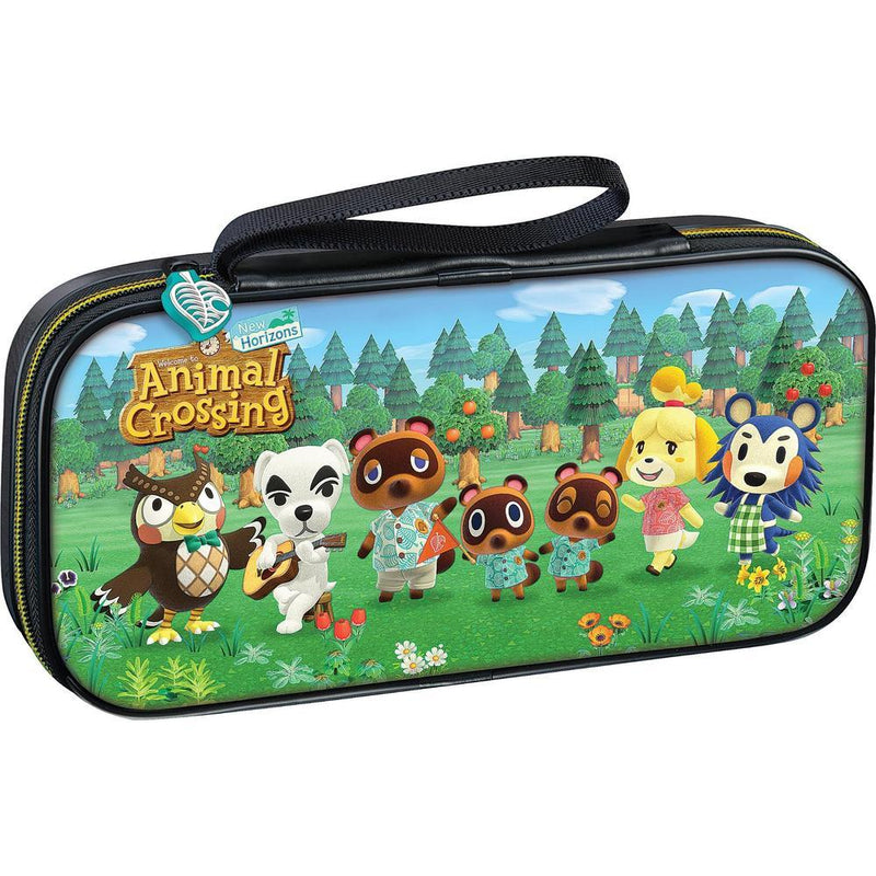 NSW GAME TRAVELER DELUXE TRAVEL CASE ANIMAL CROSSING EDITION W/ ADJUSTABLE STAND FOR SWITCH LITE (NNS39AC)