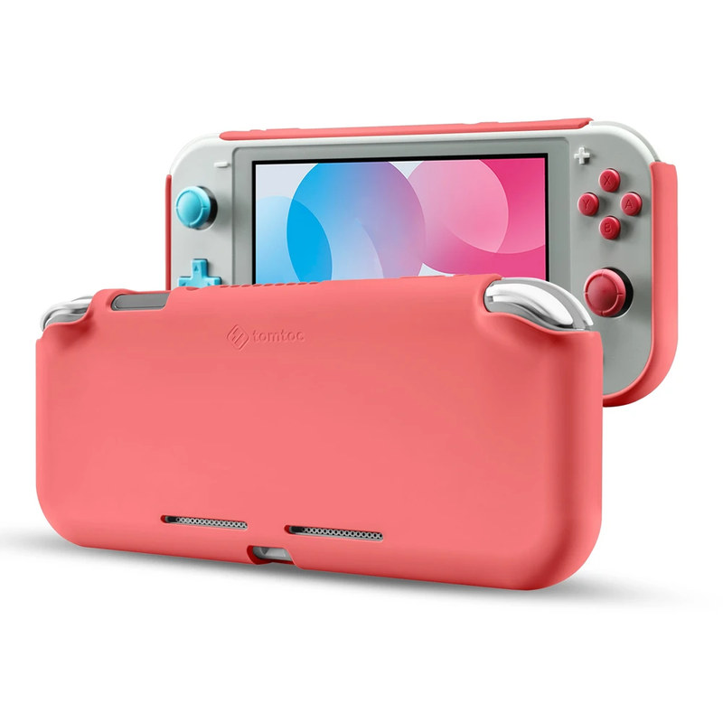 NSW TOMTOC LIQUID SILICONE CASE FOR SWITCH LITE (CORAL) (A05-15C)