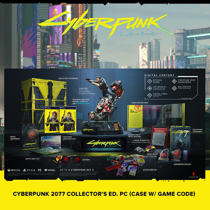 PC (CASE WITH GAME CODE) CYBERPUNK 2077 COLLECTOR'S EDITION - PREORDER DOWNPAYMENT