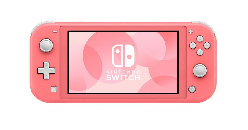 NINTENDO SWITCH LITE CORAL PINK + DOBE 3 IN 1 PROTECTIVE PACK PC MATERIAL (TNS-19170) + NSW-HARVEST MOON MAD DASH (US)(ENG/FR) BUNDLE