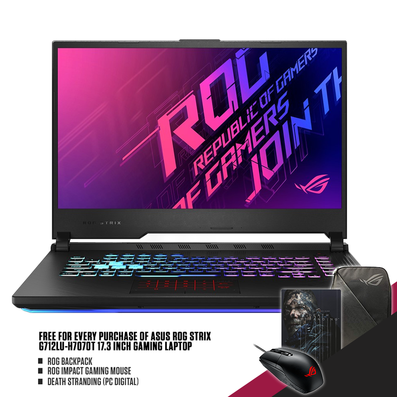 | ASUS ROG STRIX G712LU-H7070T 17.3 INCH GAMING LAPTOP