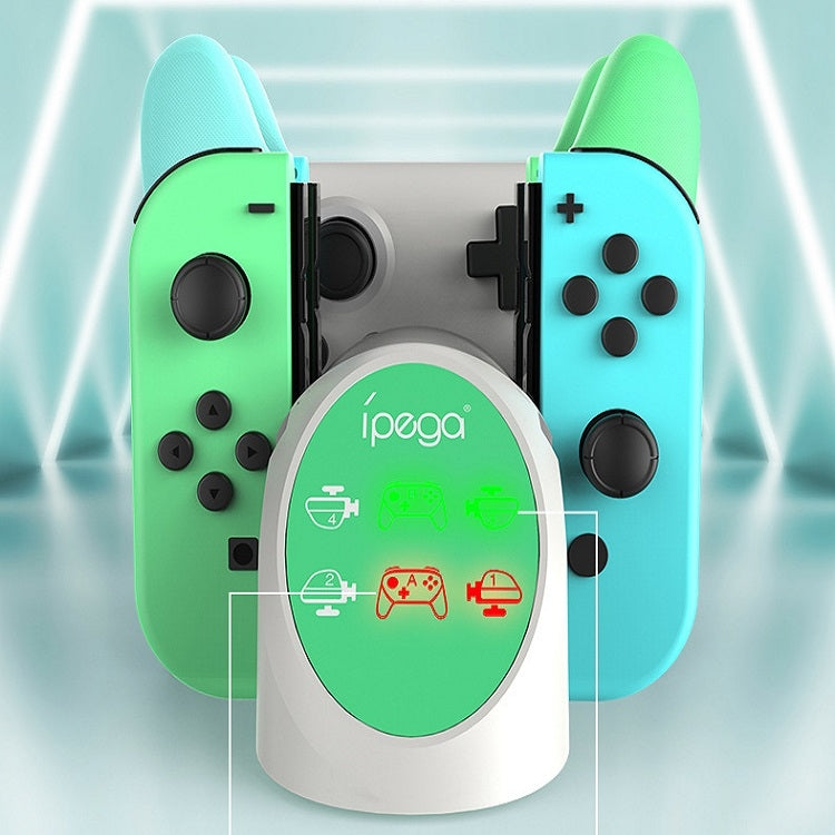 IPEGA 6 IN 1 DESKTOP CHARGER FOR N-SWITCH JOY-CON/N-SWITCH PRO CONTROLLER (ANIMAL CROSSING) (PG-9187A)