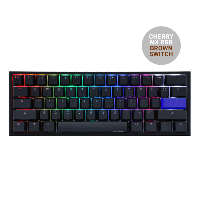 DUCKY ONE 2 MINI V2 RGB LED PBT DOUBLE SHOT MECHANICAL KEYBOARD (CHERRY MX RGB BROWN SWITCH) (DKON2061ST-BUSPDAZT1)
