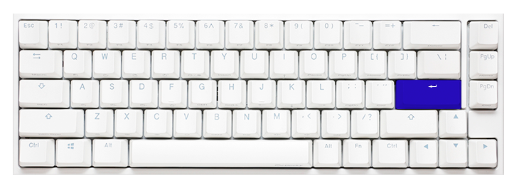 DUCKY ONE 2 SF WHITE CASE RGB LED PBT DOUBLE SHOT MECHANICAL KEYBOARD (CHERRY MX RGB BLUE SWITCH) (DKON1967ST-CUSPDWWT1)