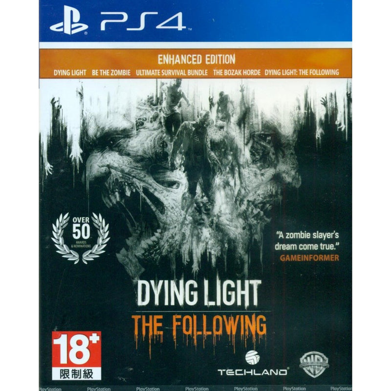 PS4 DYING LIGHT THE FOLLOWING ENHANCED EDITION REG.2