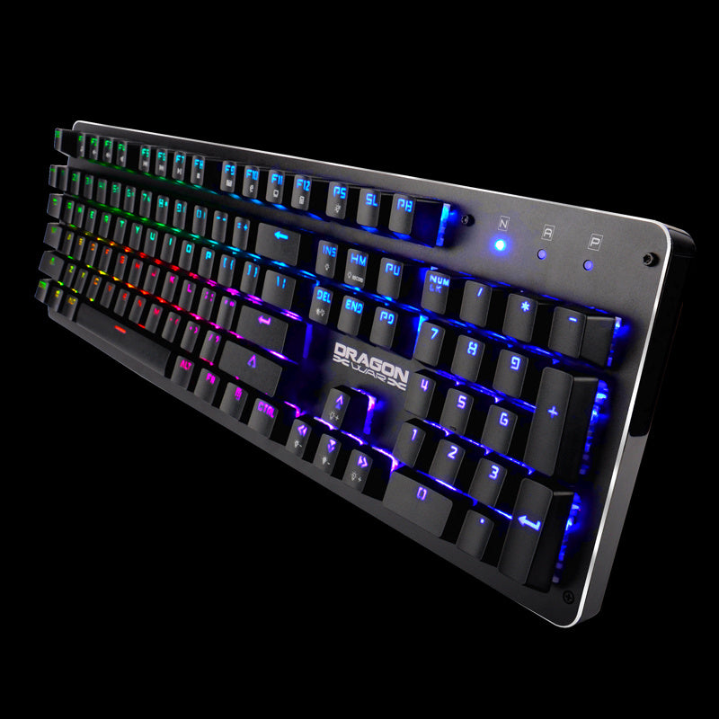 DRAGONWAR TRICERATOPS FULL RGB WIRED MECHANICAL KEYBOARD ( BLUE SWITCHES) (GK-016-ENG)