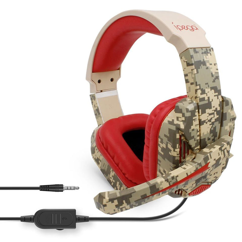 IPEGA GAMING HEADSET FOR PS4/XB1/NSW/NSW LITE/MOBILE/TABLETS/PC (RED CAMOUFLAGE) (PG-R005)