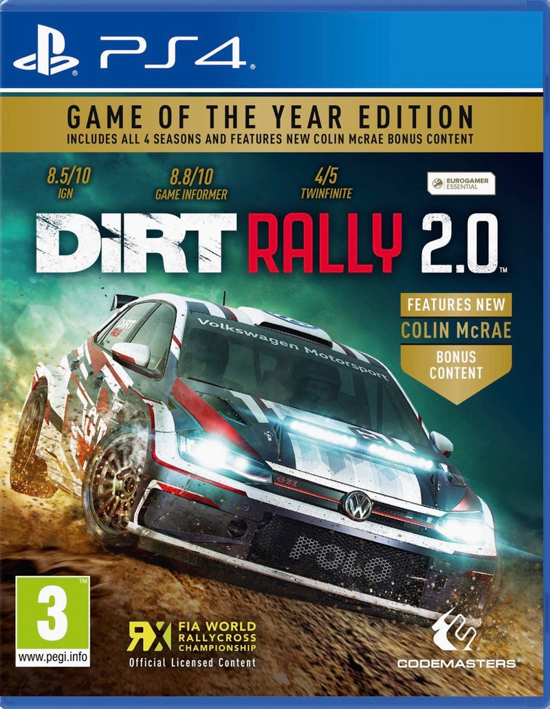 PS4 DIRT RALLY 2.0 GAME OF THE YEAR EDITION REG.2