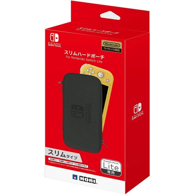 HORI NSW LITE SLIM HARD POUCH (BLACK) (NS2-047)