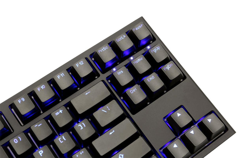 DUCKY ONE 2 TKL BLUE LED DOUBLE SHOT PBT MECHANICAL KEYBOARD CHERRY MX BLUE (DKON1887S-CUSPDAZB1)
