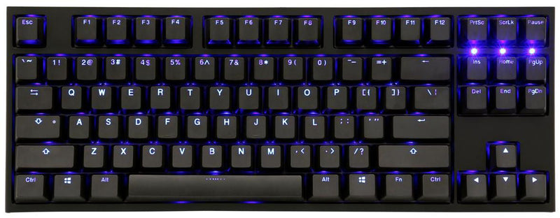 DUCKY ONE 2 TKL BLUE LED DOUBLE SHOT PBT MECHANICAL KEYBOARD CHERRY MX RED (DKON1887S-RUSPDAZB1)