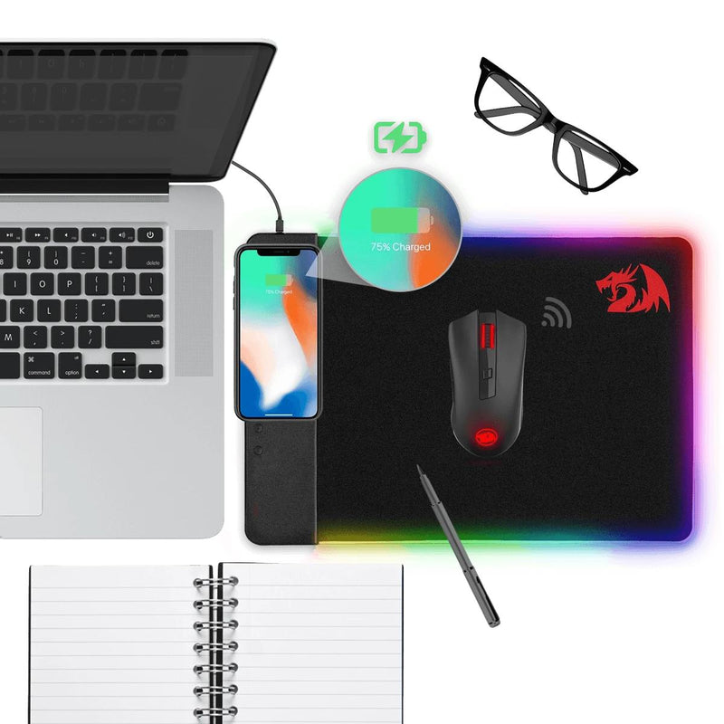 REDRAGON PO25 RGB GAMING MOUSEPAD WITH WIRELESS CHARGER