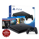 PS4 1TB (JET BLACK)CUH-2106B B01 R3+GOD OF WAR PLAYSTATION HITS +THE LAST OF US REMASTERED PLAYSTATION HITS +ONIMUSHA WARLORDS+GHOST RECON BREAKPOINT