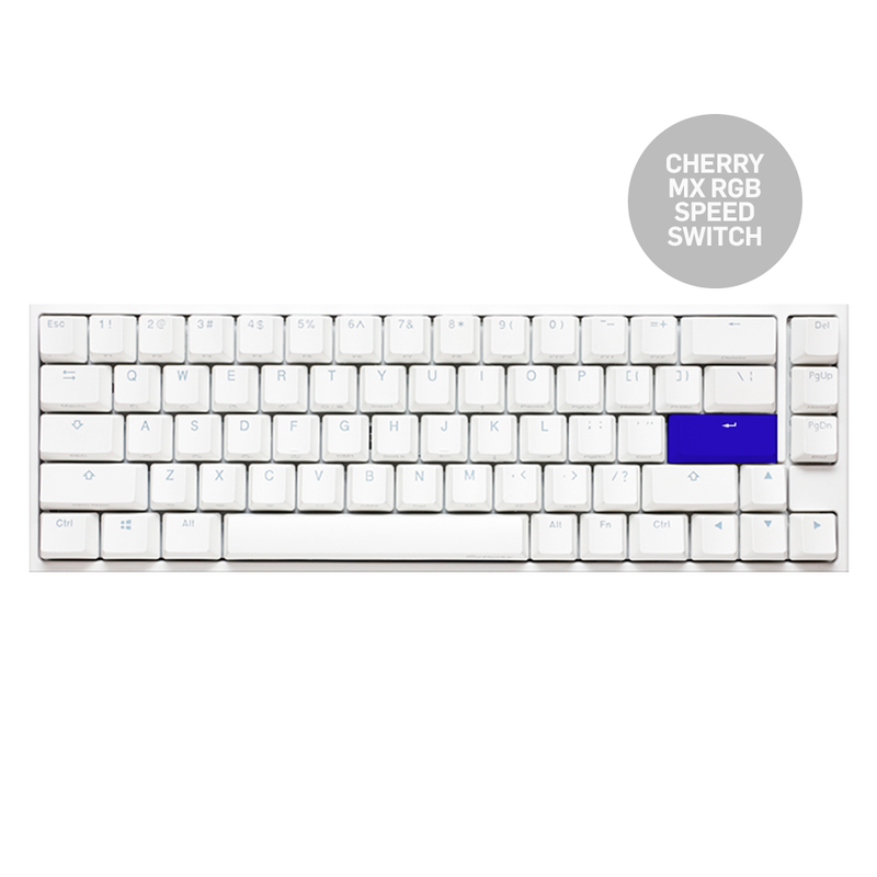 DUCKY ONE 2 SF WHITE CASE RGB LED PBT DOUBLE SHOT MECHANICAL KEYBOARD (CHERRY MX RGB SPEED SWITCH) (DKON1967ST-PUSPDWWT1)