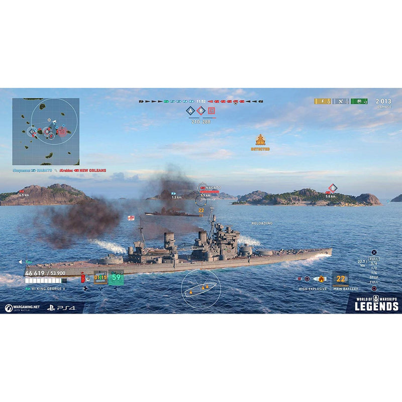 PS4 WORLD OF WARSHIPS LEGENDS FIREPOWER DELUXE EDITION REG.2